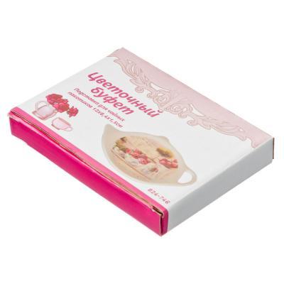 824-746 Цветочный буфет Подставка для чайных пакетиков 12х8,4х1,5см, керамика