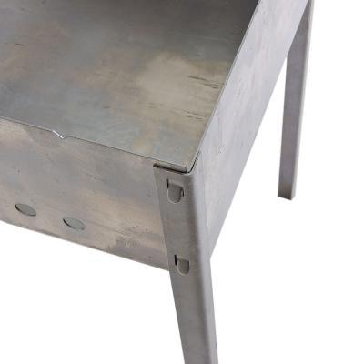 103-021 Мангал с 6 шампурами в коробке 1,5мм сталь (глубина мангала 143 мм) 50х30х50см, арт.МНГ-16