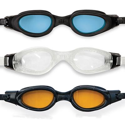 """109-201 Очки для плавания, возраст от 14 лет, 3 цвета, INTEX """"Мастер про"""", 55692"""