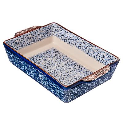 826-229 Форма для запекания и сервировки прямоугольная с ручками, керамика, 31х20х6,5 см, MILLIMI