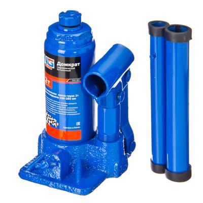 741-001 NEW GALAXY Домкрат гидравлический бутылочный, 2т, h подъема 150–285 мм