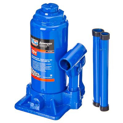741-007 NEW GALAXY Домкрат гидравлический бутылочный, 10т, h подъема 205–390 мм