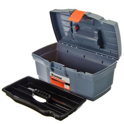 """669-138 ЕРМАК Ящик для инструментов Master Economy 12"""" серо-свинцовый / оранжевый"""