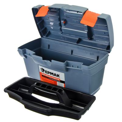 """669-139 ЕРМАК Ящик для инструментов Master Economy 16"""" серо-свинцовый / оранжевый, арт.669139"""