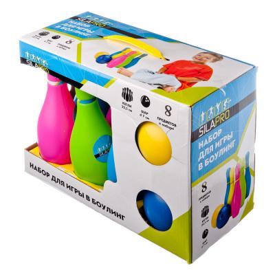 134-094 Набор для игры в боулинг 12 пр (кегли 22,5см, шар d7см), пластик
