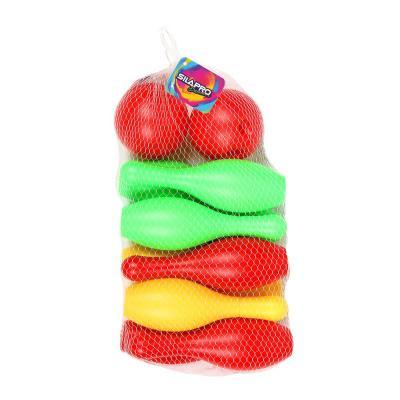 134-095 Набор для игры в боулинг,12 предметов, кегли 16,5 см, шар d 5 см, пластик, SILAPRO