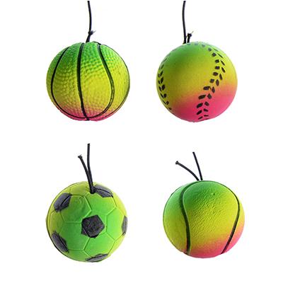 134-100 Мяч с резиночкой, d 3,8 см, ПВХ