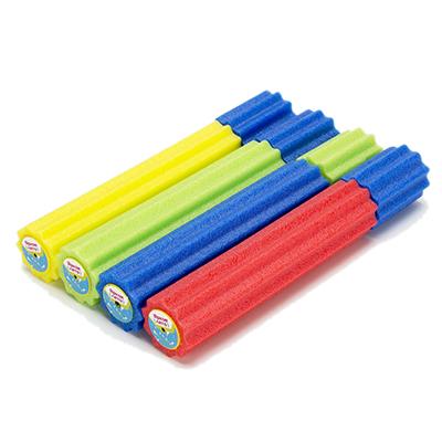 134-104 Пушка помповая фигурная водяная, пластик, 30x5см, 4 цвета