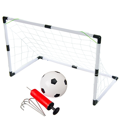134-110 Набор для игры в футбол, детский, мяч, насос, ворота, 92 х 48 х 61 см, пластик