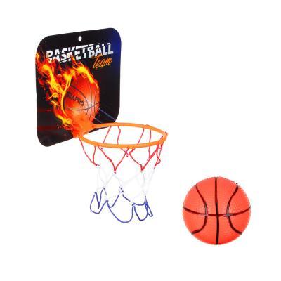 134-111 Набор для баскетбола, детский, корзина, 23х18 см, 2 мяча, пластик, ПВХ, SILAPRO