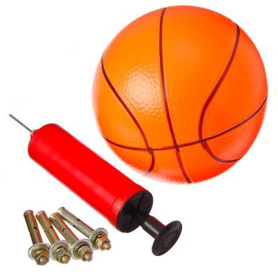 134-112 Набор баскетбольный: корзина d 32 см, насос, мяч d 16 см, болты для установки, металл, ПВХ, SILAPRO