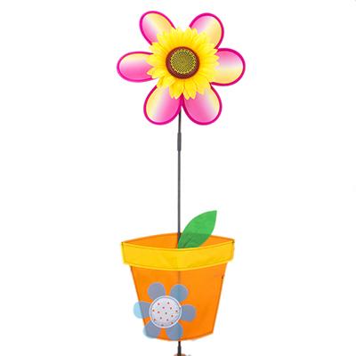 """134-114 Игрушка ветряная вертушка """"Домашний цветок"""", 70х27см, ткань"""