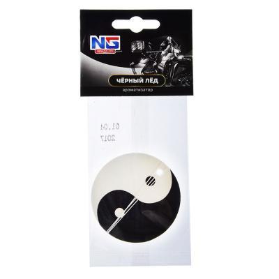 """794-433 Автомобильный ароматизатор бумажный, аромат черный лед, """"Инь Янь"""" NEW GALAXY"""