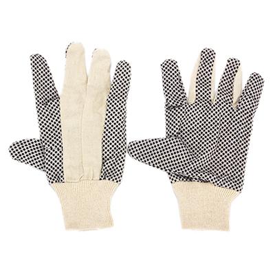638-005 РОКОТ Перчатки рабочие х/б ткань с ПВХ точкой, 10 размер, 23,5x13см