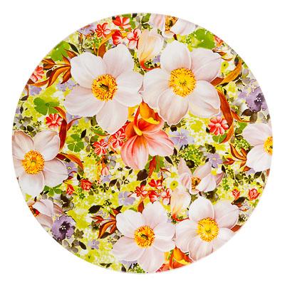 830-451 VETTA Весенний букет Тарелка десертная стекло 200мм, S3008-R051