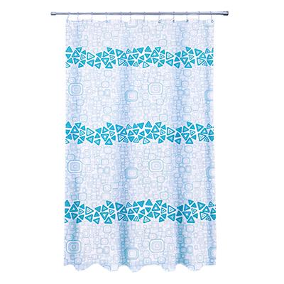 """461-444 VETTA Шторка для ванной, ткань полиэстер с утяжелит, 180x180см, """"Уголок голубая"""", Дизайн GC"""