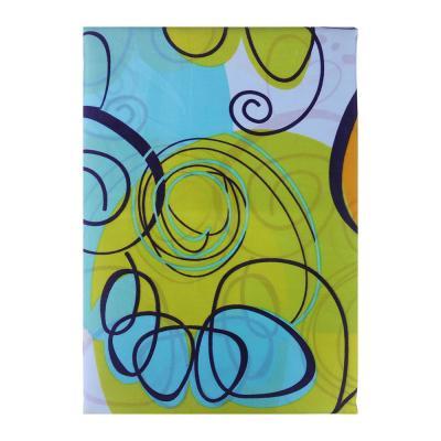 """461-449 VETTA Шторка для ванной, ткань полиэстер с утяжелит, 180x180см, """"Завитки"""", Дизайн GC"""