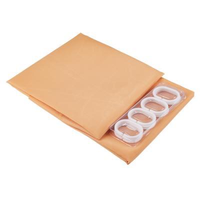 461-451 VETTA Шторка для ванной, ткань полиэстер однотонная бежевая 180x180см