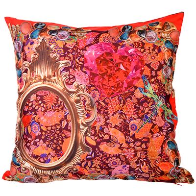 482-554 Декоративная наволочка для подушки сатин 40х40см