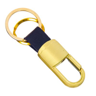 732-034 NEW GALAXY Брелок-карабин желтый, металл, 67x21x9мм