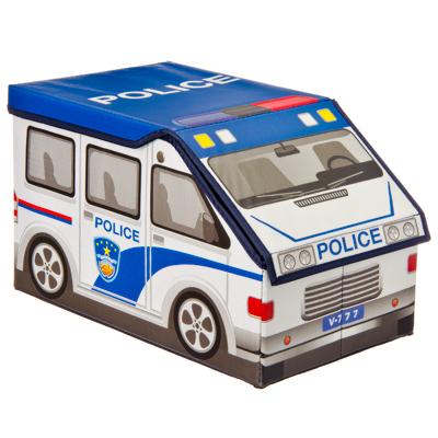 """457-350 Кофр-короб складной """"Полицейская Машина"""" 40х23х23см., нетканый материал"""