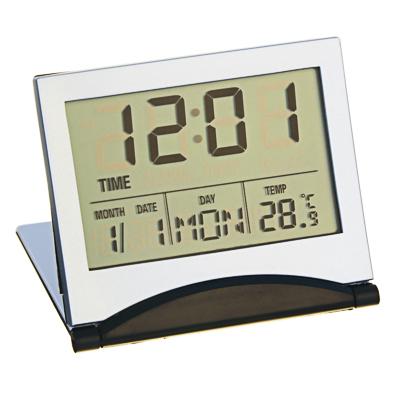 529-126 Будильник электронный + термометр, календарь, пластик, 6,2х7,2 см, LA DECOR
