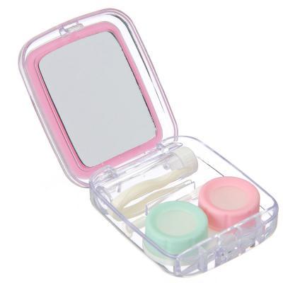 339-029 Набор для хранения контактных линз, пластик, стекло, 7,4х6см, 4 цвета