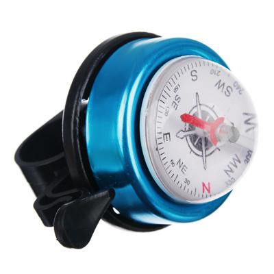 195-053 Звонок велосипедный ударный с компасом, пластик, металл, SILAPRO
