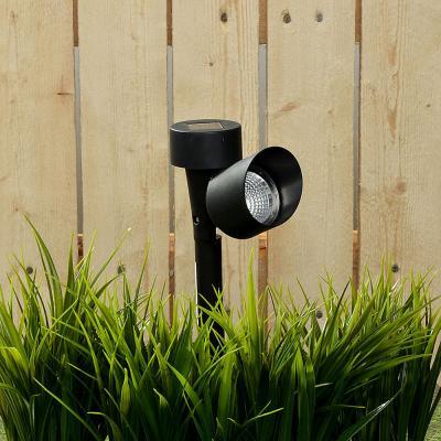185-017 INBLOOM Фонарь садовый на солн. батарее, пластик, 12,5x5,5x34,5см