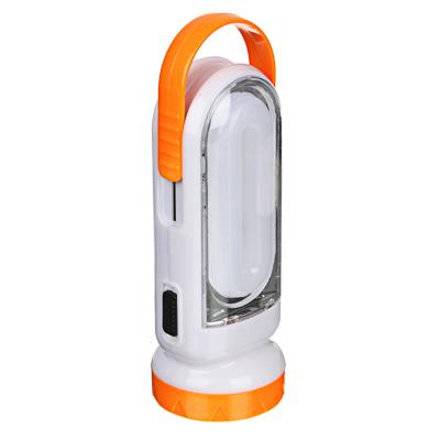 198-094 ЧИНГИСХАН Фонарь аккумуляторный 2-в-1 17+0,5Вт LED, шнур 220В, солнечн. батарея, пластик, 14,5x5,5см