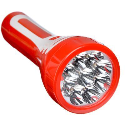 198-095 ЧИНГИСХАН Фонарь аккумуляторный 9 ярк. LED, вилка 220В, пластик, 19,5x7 см