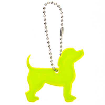 "762-003 NEW GALAXY Значок-подвеска светоотражающий ""Пёс"", 4x6см"
