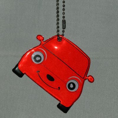 "762-007 NEW GALAXY Значок-подвеска светоотражающий ""Машина"", 6.5x5,5см"