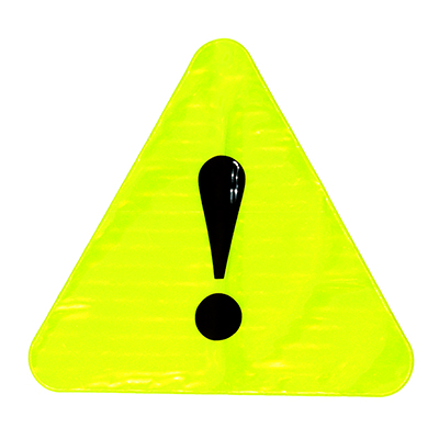 "762-009 NEW GALAXY Табличка светоотражающая ""Внимание!"", 15x13,5см"