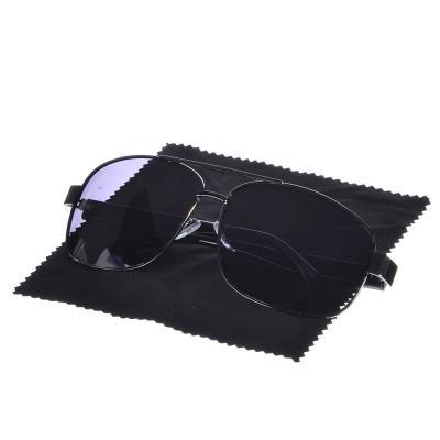 760-004 Очки поляризационные, солнцезащитные + салфетка, оправа металл, линзы темно-черные, NEW GALAXY Тайпа