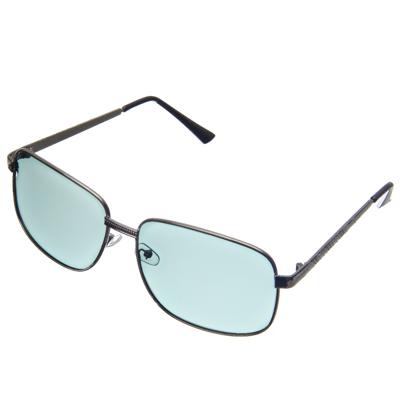 760-005 NEW GALAXY Очки поляризационные, солнцезащитные + салфетка, оправа металл, линзы черные Крайт