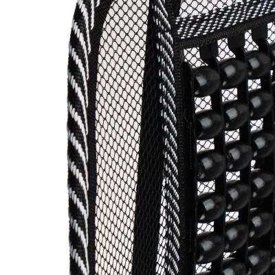 768-448 NEW GALAXY Подушка массажная для поддержки спины и поясницы, с деревянными вставками, черная