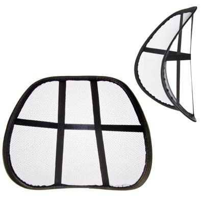 768-450 NEW GALAXY Подушка массажная для поддержки спины и поясницы, черная