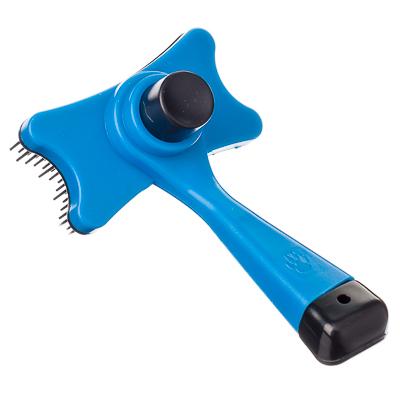 151-071 Щетка для животных с функцией легкой очистки 13х7,5см