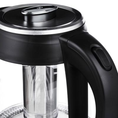 291-009 Чайник электрический 1,8 л LEBEN, 1850 Вт, стекло/пластик, c заварочным фильтром