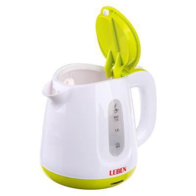 291-012 Чайник электрический 1 л LEBEN, 900 Вт, пластик, скрытый нагревательный элемент