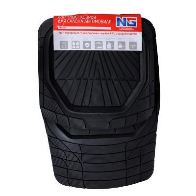 740-005 NEW GALAXY Набор ковров с высоким бортом 4шт, термопласт, универсальные, черные RAY