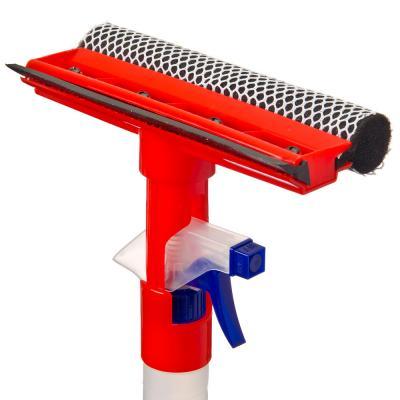 729-005 NEW GALAXY Щетка с губкой, с водосгоном и спреем (пульверизатором 300мл), 20x34см