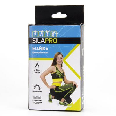 184-028 SILAPRO Майка тренировочная, 92% полиэстер, 8% спандекс, 6 цветов, S, M размер, #12