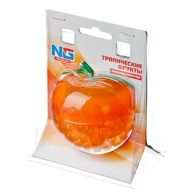 """794-461 Ароматизатор в автомобиль гелевый, аромат тропические фрукты, """"Яблоко"""""""