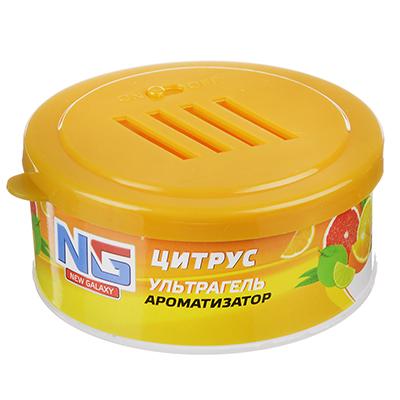 """794-466 Ароматизатор в машину гелевый, аромат цитрус, """"Ультрагель"""" NEW GALAXY"""