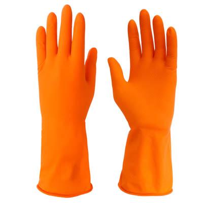 447-033 Перчатки резиновые для уборки оранжевые, М, VETTA