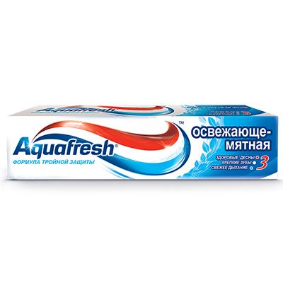 981-034 Зубная паста Аквафреш Освежающе-мятная 100мл