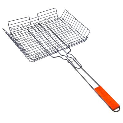 Решетка-гриль универсальная, глубокая 62x(33х25х5см), с антипригарным покрытием