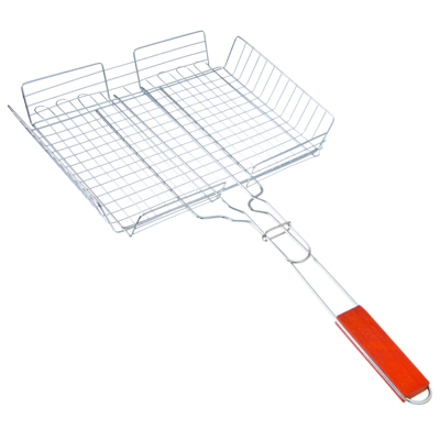 ЕРМАК Решетка-гриль универсальная, глубокая 58x33х25х5см, коррозионостойкий сплав